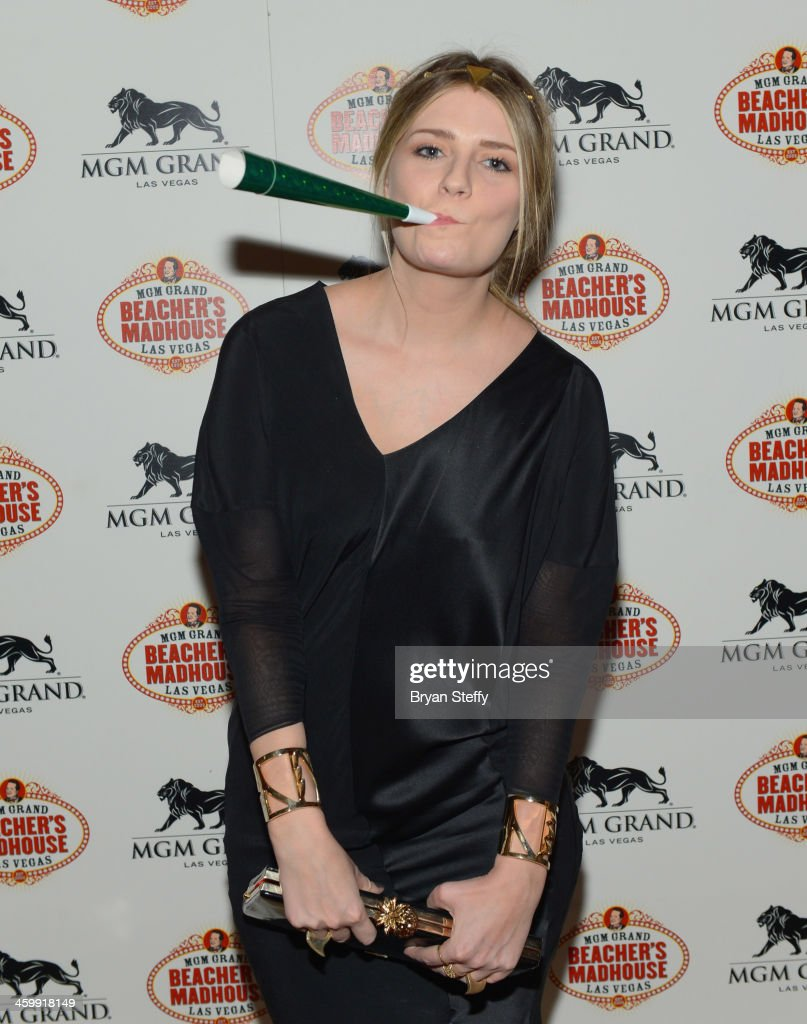 Actress <a gi-track='captionPersonalityLinkClicked' href=/galleries/search?phrase=Mischa+Barton&family=editorial&specificpeople=201862 ng-click='$event.stopPropagation()'>Mischa Barton</a> arrives at the New Year's Eve 2014 celebration at Beacher's Madhouse Las Vegas at the MGM Grand Hotel/Casino on December 31, 2013 in Las Vegas, Nevada.