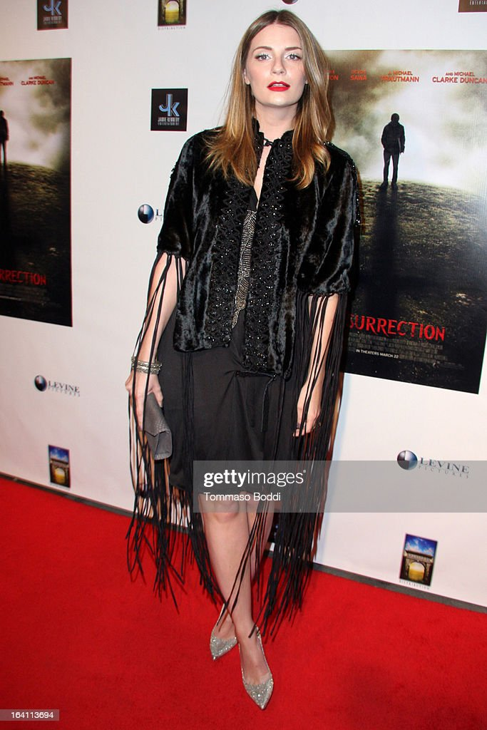 Actress Mischa Barton attends the 'A Resurrection' Los Angeles premiere at ArcLight Sherman Oaks on March 19, 2013 in Sherman Oaks, California.