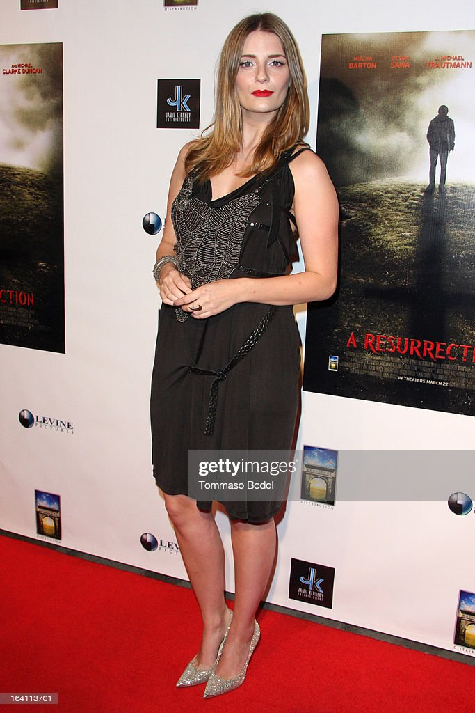 Actress Mischa Barton attends the 'A Resurrection' Los Angeles premiere at ArcLight Sherman Oaks on March 19 2013 in Sherman Oaks California