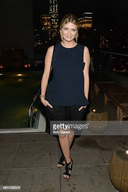 Actress Mischa Barton attends The Cinema Society Kate Spade and Ketel One Vodka host a Screening of Sony Pictures Classics' 'Grandma' at The Jimmy at...