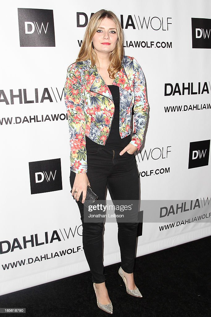 Actress <a gi-track='captionPersonalityLinkClicked' href=/galleries/search?phrase=Mischa+Barton&family=editorial&specificpeople=201862 ng-click='$event.stopPropagation()'>Mischa Barton</a> attends the Dahlia Wolf Launch Party at Graffiti Cafe on October 22, 2013 in Los Angeles, California.