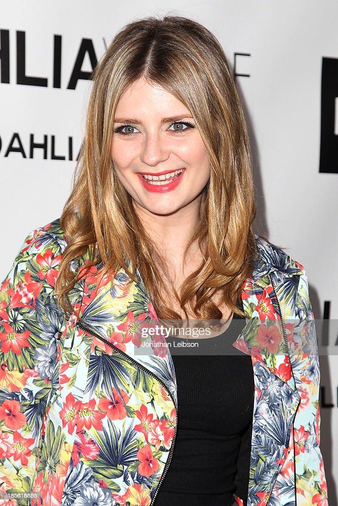 Actress Mischa Barton attends the Dahlia Wolf Launch Party at Graffiti Cafe on October 22, 2013 in Los Angeles, California.