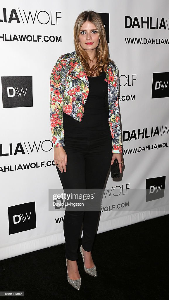 Actress <a gi-track='captionPersonalityLinkClicked' href=/galleries/search?phrase=Mischa+Barton&family=editorial&specificpeople=201862 ng-click='$event.stopPropagation()'>Mischa Barton</a> attends the Dahlia Wolf Launch Party at the Graffiti Cafe on October 22, 2013 in Los Angeles, California.