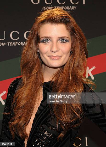 Actress Mischa Barton attends the Gucci IconTemporary Flash Sneaker Store launch at the Gucci IconTemporary Flash Sneaker Store on October 23 2009 in...