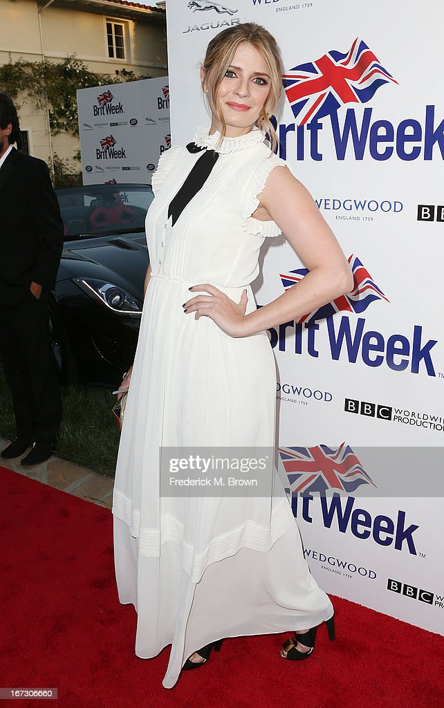 Actress Mischa Barton attends the launch of the Seventh Annual Britweek Festival 'A Salute to Old Hollywood' on April 23, 2013 in Los Angeles, California.