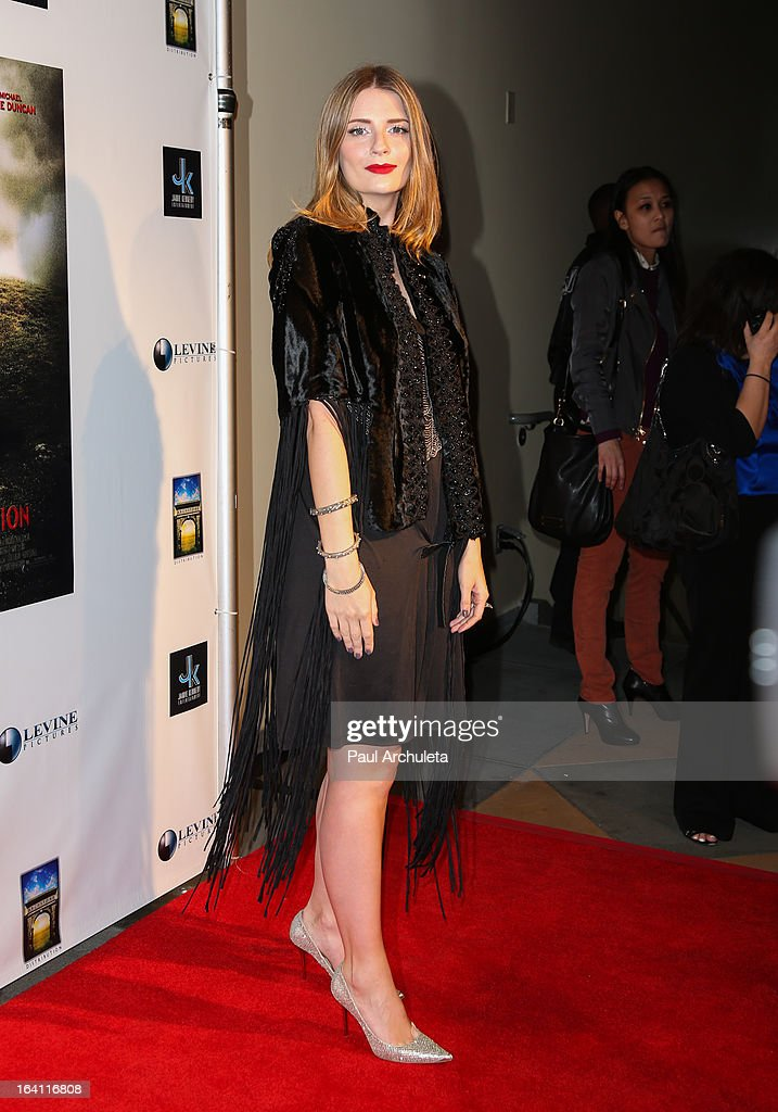 Actress Mischa Barton attends the Los Angeles premiere of 'A Resurrection' at the ArcLight Sherman Oaks on March 19, 2013 in Sherman Oaks, California.