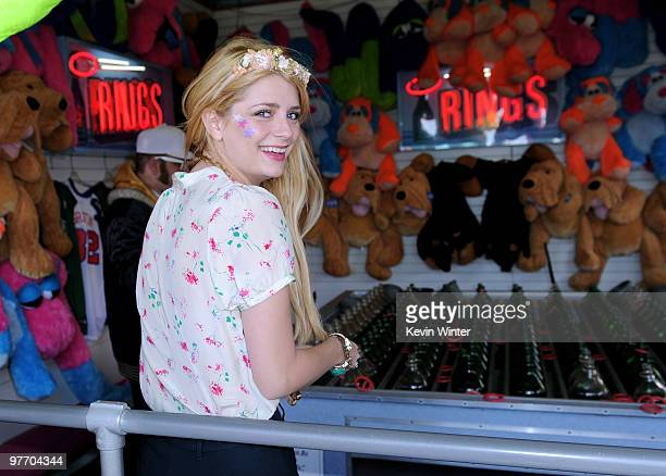 Actress Mischa Barton attends the MakeAWish Foundation event hosted by Kevin and Steffiana James at the Santa Monica Pier on March 14 2010 in Santa...