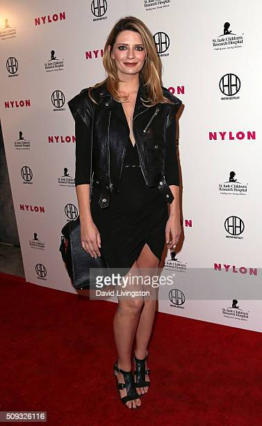 Actress Mischa Barton attends the Muses and Music party hosted by NYLON Magazine at No Vacancy on February 9 2016 in Los Angeles California