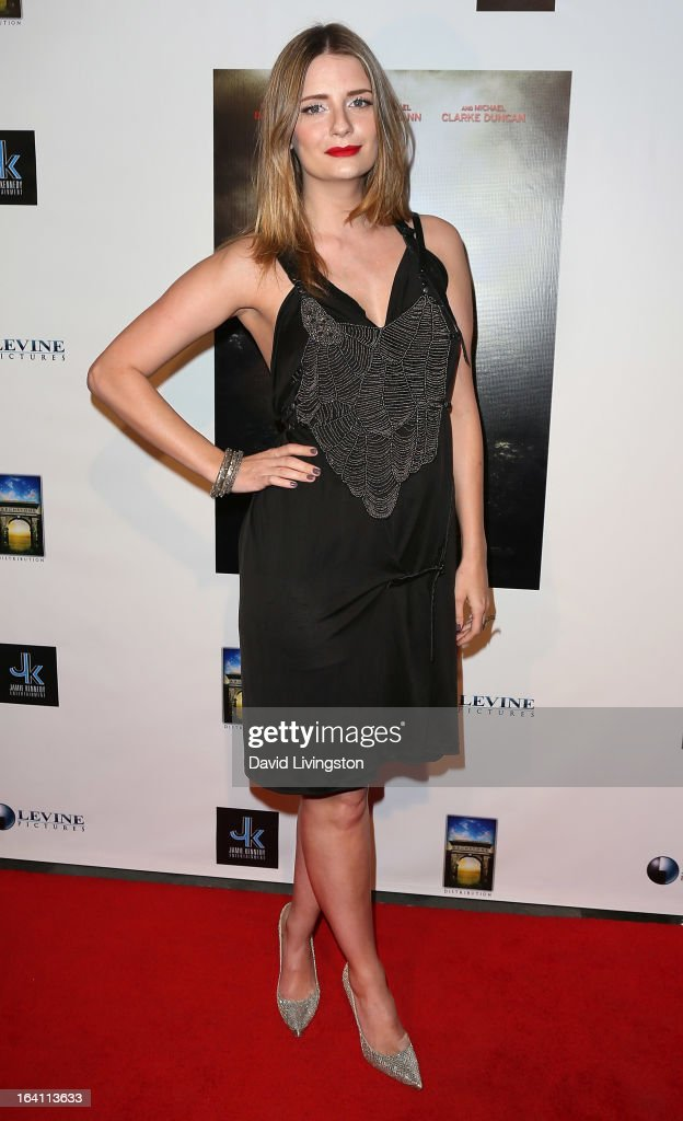 Actress <a gi-track='captionPersonalityLinkClicked' href=/galleries/search?phrase=Mischa+Barton&family=editorial&specificpeople=201862 ng-click='$event.stopPropagation()'>Mischa Barton</a> attends the premiere of 'A Resurrection' at ArcLight Sherman Oaks on March 19, 2013 in Sherman Oaks, California.