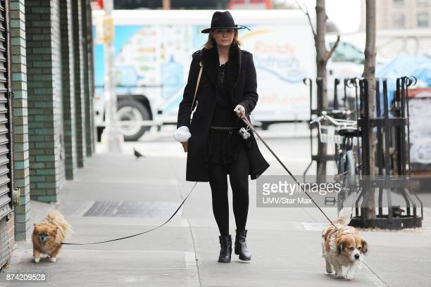 Actress Mischa Barton is seen on November 14 2017 in New York City