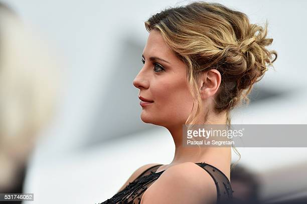 Actress Mischa Bartonhair detail attends the 'Loving' premiere during the 69th annual Cannes Film Festival at the Palais des Festivals on May 16 2016...