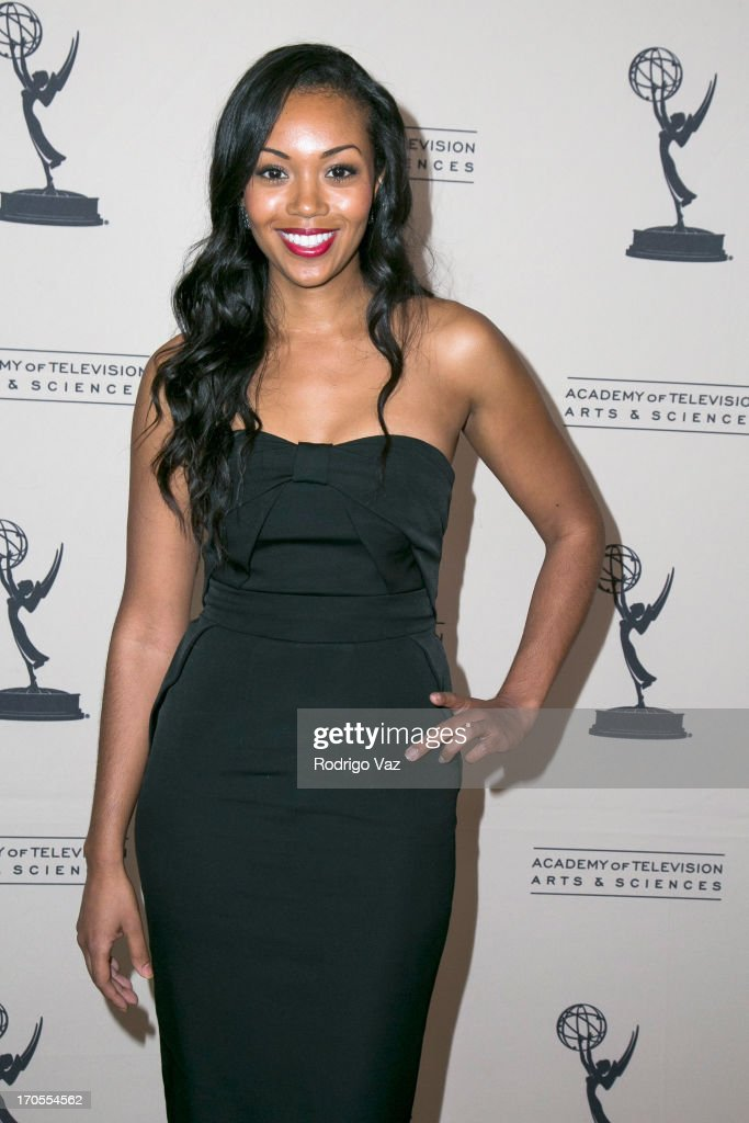 Actress Mishael Morgan arrives at the 40th Annual Daytime Emmy Nominees Cocktail Reception at Montage Beverly Hills on June 13, 2013 in Beverly Hills, California.