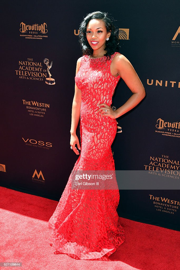 Actress <a gi-track='captionPersonalityLinkClicked' href=/galleries/search?phrase=Mishael+Morgan&family=editorial&specificpeople=11005529 ng-click='$event.stopPropagation()'>Mishael Morgan</a> arrives at the 43rd Annual Daytime Emmy Awards at the Westin Bonaventure Hotel on May 1, 2016 in Los Angeles, California.
