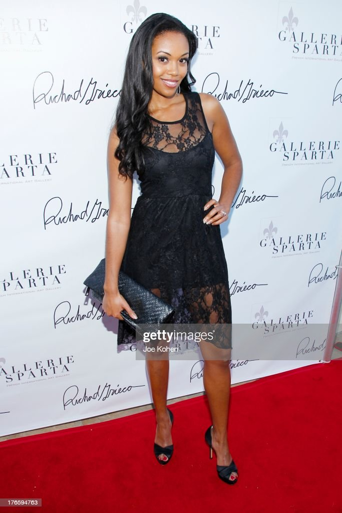 Actress Mishael Morgan attends Richard Grieco's opening night gala for his one-man art exhibit 'Sanctum Of A Dreamer!' at Gallerie Sparta on August 15, 2013 in West Hollywood, California.