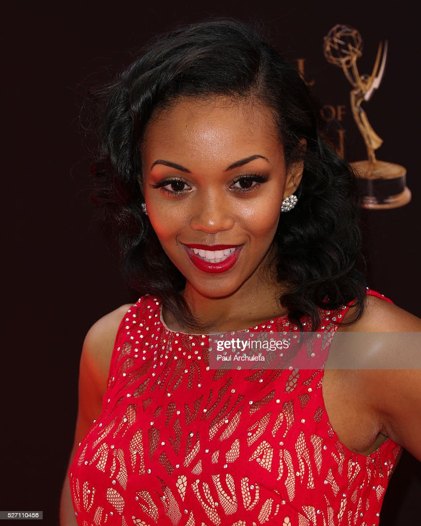 Actress <a gi-track='captionPersonalityLinkClicked' href=/galleries/search?phrase=Mishael+Morgan&family=editorial&specificpeople=11005529 ng-click='$event.stopPropagation()'>Mishael Morgan</a> attends the 2016 Daytime Emmy Awards at The Westin Bonaventure Hotel on May 1, 2016 in Los Angeles, California.