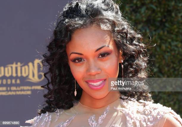 Actress Mishael Morgan attends the 44th annual Daytime Emmy Awards at The Pasadena Civic Auditorium on April 30 2017 in Pasadena California