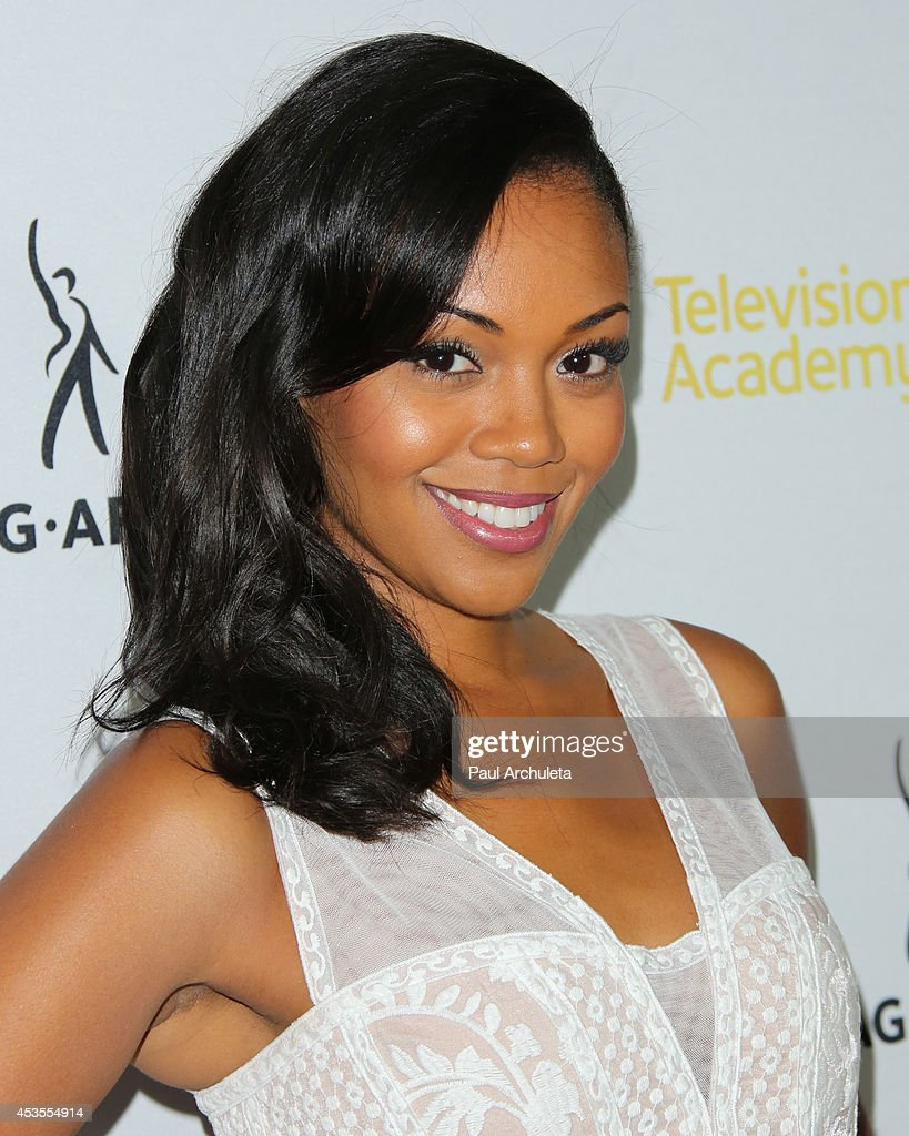Actress <a gi-track='captionPersonalityLinkClicked' href=/galleries/search?phrase=Mishael+Morgan&family=editorial&specificpeople=11005529 ng-click='$event.stopPropagation()'>Mishael Morgan</a> attends the Television Academy and SAG-AFTRA's presentation of Dynamic and Diverse: A 66th Emmy Awards celebration of Diversity at Leonard H. Goldenson Theatre on August 12, 2014 in North Hollywood, California.