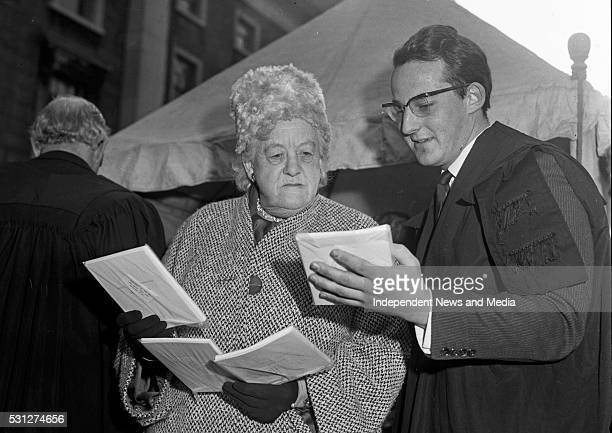 Actress Miss Margaret Rutherford with Mr M P Stanfield R2665