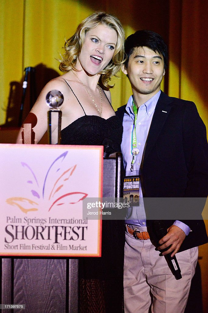 Actress Missi Pyle and filmmaker Jason Lee attend the Palm Springs ShortFest closing night gala on June 23, 2013 in Palm Springs, California.
