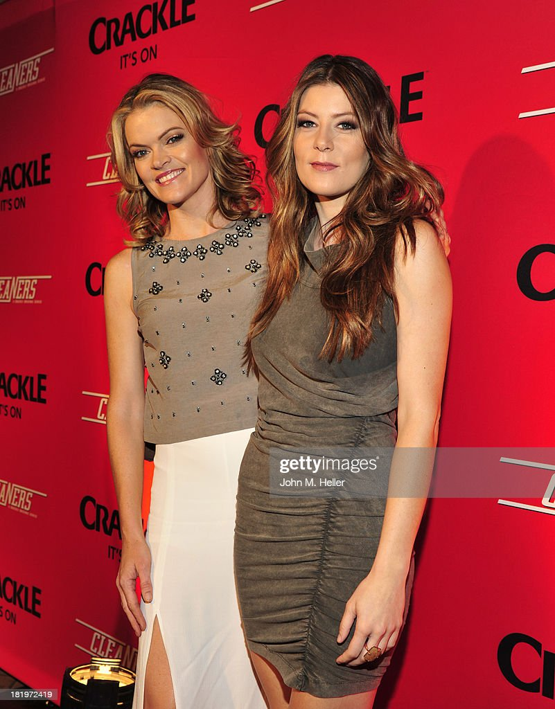 Actress <a gi-track='captionPersonalityLinkClicked' href=/galleries/search?phrase=Missi+Pyle&family=editorial&specificpeople=226554 ng-click='$event.stopPropagation()'>Missi Pyle</a> and Meridith Pyle attend the premiere of Crackle's new original digital series 'Cleaners' at the Cary Grant Theater on the Sony Pictures Studio lot on September 26, 2013 in Culver City, California.