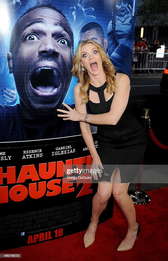 Actress Missi Pyle arrives at the Los Angeles premiere of 'A Haunted House 2' at Regal Cinemas LA Live on April 16 2014 in Los Angeles California