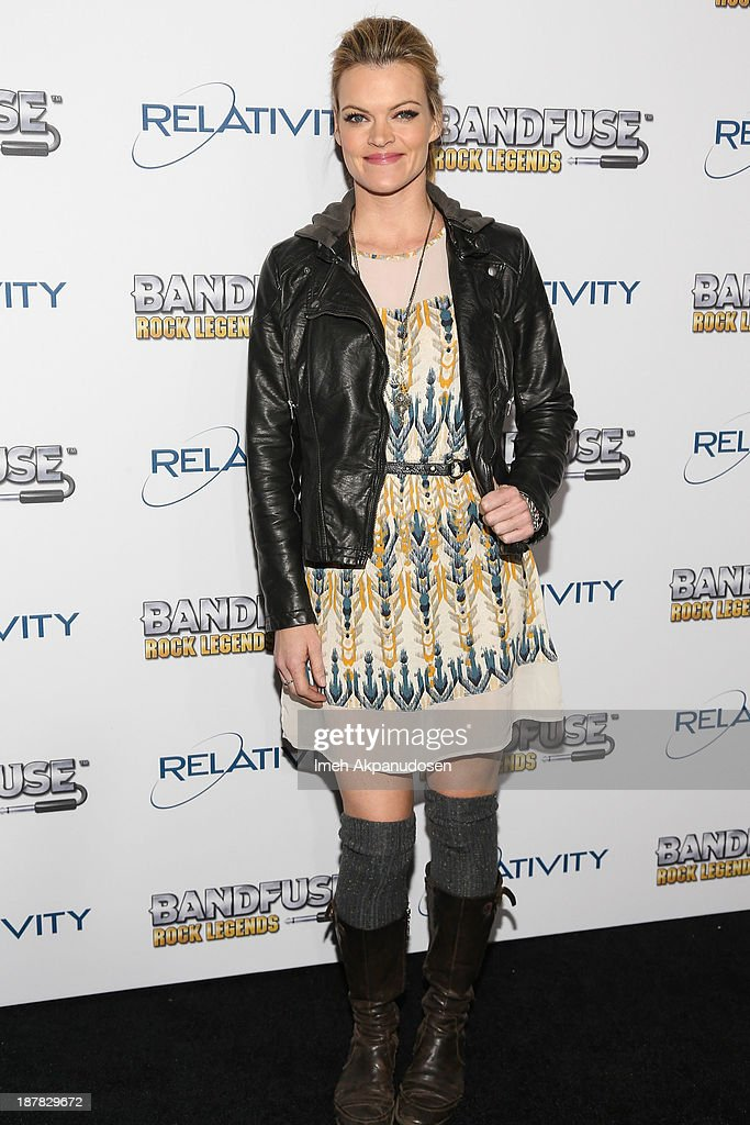 Actress Missi Pyle attends the BandFuse Rock Legends video game launch event at House of Blues Sunset Strip on November 12 2013 in West Hollywood...