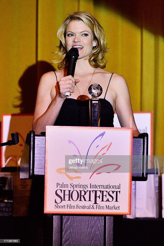 Actress <a gi-track='captionPersonalityLinkClicked' href=/galleries/search?phrase=Missi+Pyle&family=editorial&specificpeople=226554 ng-click='$event.stopPropagation()'>Missi Pyle</a> attends the Palm Springs ShortFest closing night gala on June 23, 2013 in Palm Springs, California.