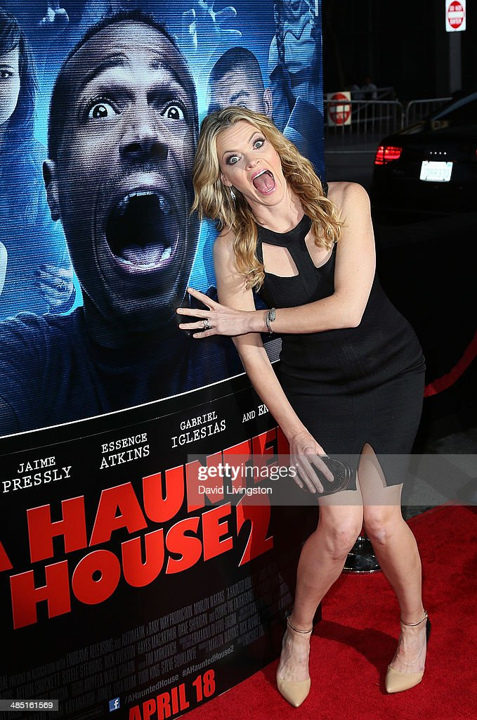 Actress <a gi-track='captionPersonalityLinkClicked' href=/galleries/search?phrase=Missi+Pyle&family=editorial&specificpeople=226554 ng-click='$event.stopPropagation()'>Missi Pyle</a> attends the premiere of Open Road Films' 'A Haunted House 2' at Regal Cinemas L.A. Live on April 16, 2014 in Los Angeles, California.