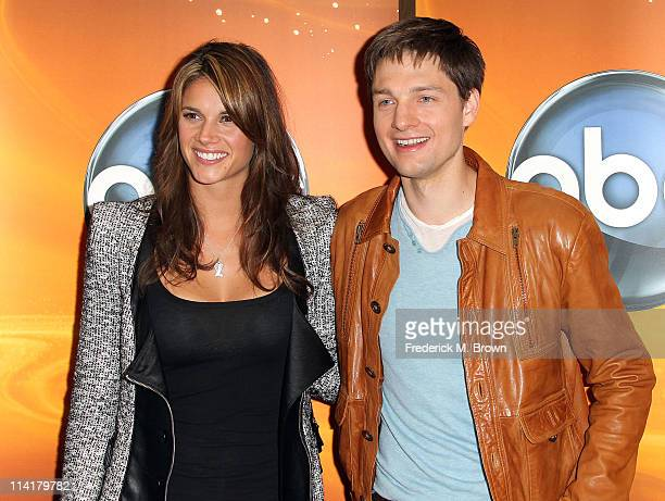 Actress Missy Peregrym and actor Greg Smith attend the Disney ABC Television Group Host 'May Press Junket 2011' at ABC Studios on May 14 2011 in...