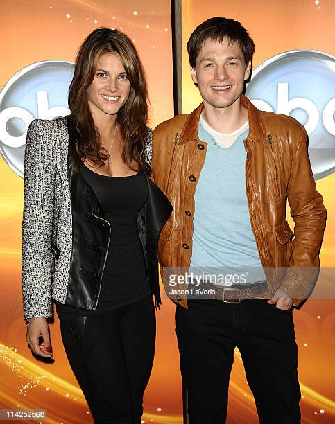 Actress Missy Peregrym and actor Gregory Smith attend the Disney ABC Television Group May press junket on May 14 2011 in Burbank California