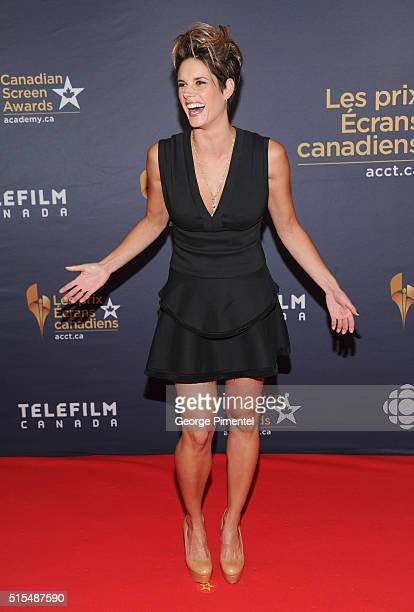 Actress Missy Peregrym arrives at the 2016 Canadian Screen Awards at the Sony Centre for the Performing Arts on March 13 2016 in Toronto Canada