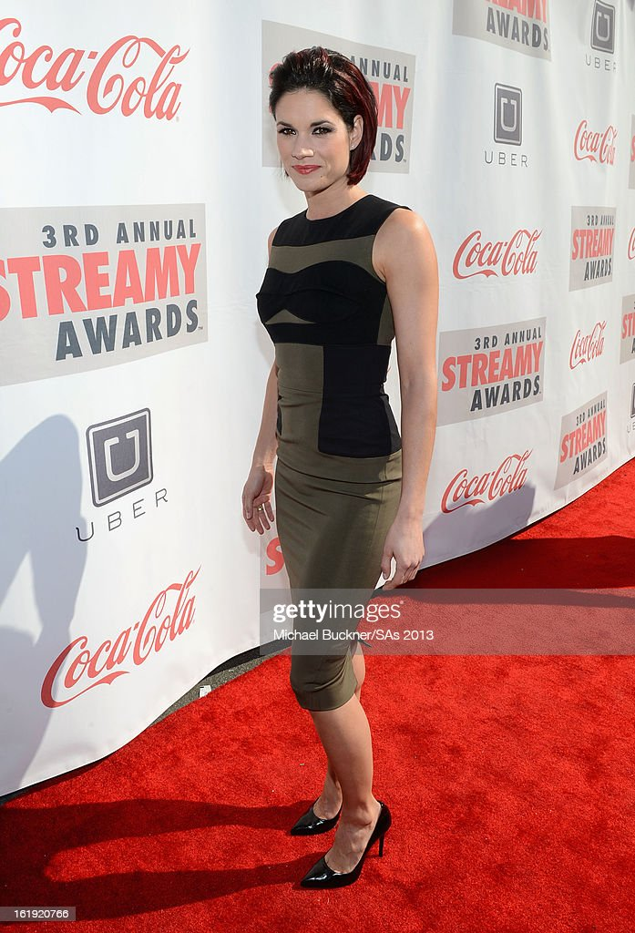 Actress <a gi-track='captionPersonalityLinkClicked' href=/galleries/search?phrase=Missy+Peregrym&family=editorial&specificpeople=592561 ng-click='$event.stopPropagation()'>Missy Peregrym</a> attends the 3rd Annual Streamy Awards at Hollywood Palladium on February 17, 2013 in Hollywood, California.