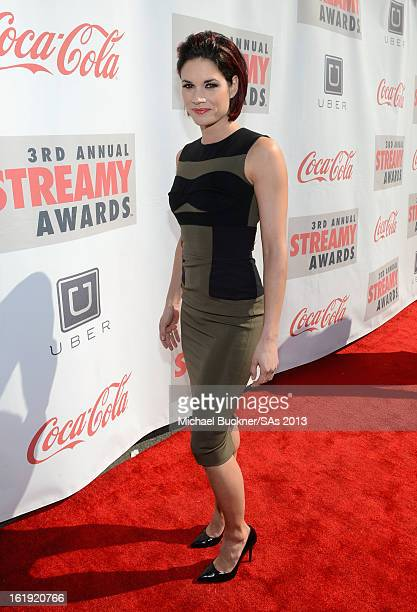 Actress Missy Peregrym attends the 3rd Annual Streamy Awards at Hollywood Palladium on February 17 2013 in Hollywood California