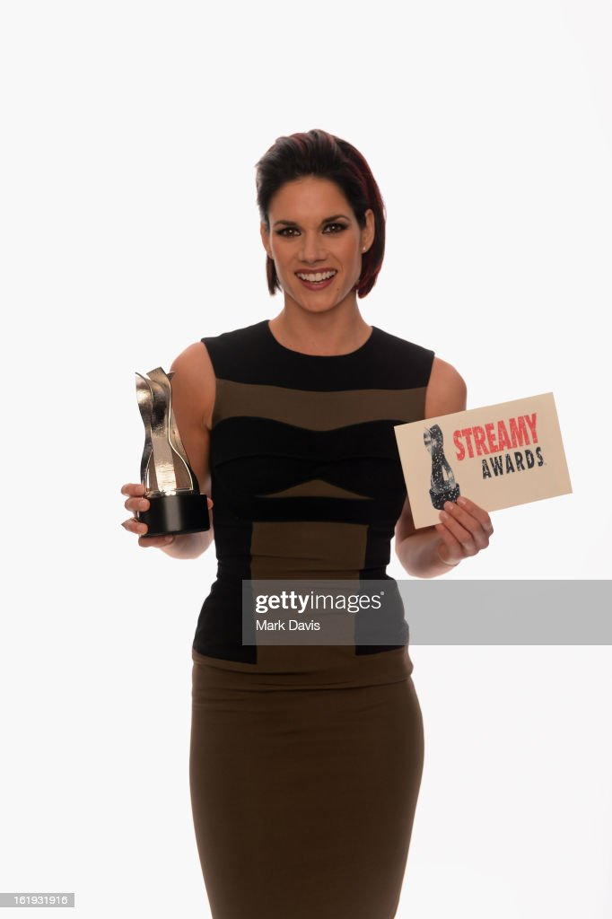 Actress <a gi-track='captionPersonalityLinkClicked' href=/galleries/search?phrase=Missy+Peregrym&family=editorial&specificpeople=592561 ng-click='$event.stopPropagation()'>Missy Peregrym</a> poses for a portrait in the TV Guide Portrait Studio at the 3rd Annual Streamy Awards at Hollywood Palladium on February 17, 2013 in Hollywood, California.