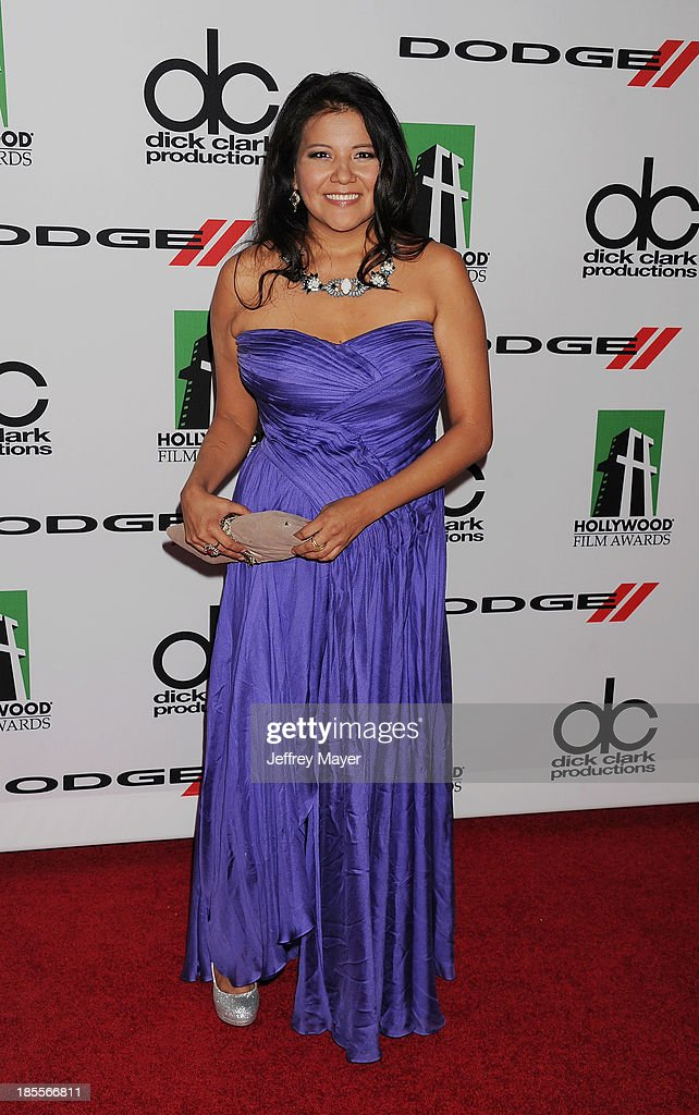 Actress <a gi-track='captionPersonalityLinkClicked' href=/galleries/search?phrase=Misty+Upham&family=editorial&specificpeople=4835047 ng-click='$event.stopPropagation()'>Misty Upham</a> arrives at the 17th Annual Hollywood Film Awards at The Beverly Hilton Hotel on October 21, 2013 in Beverly Hills, California.