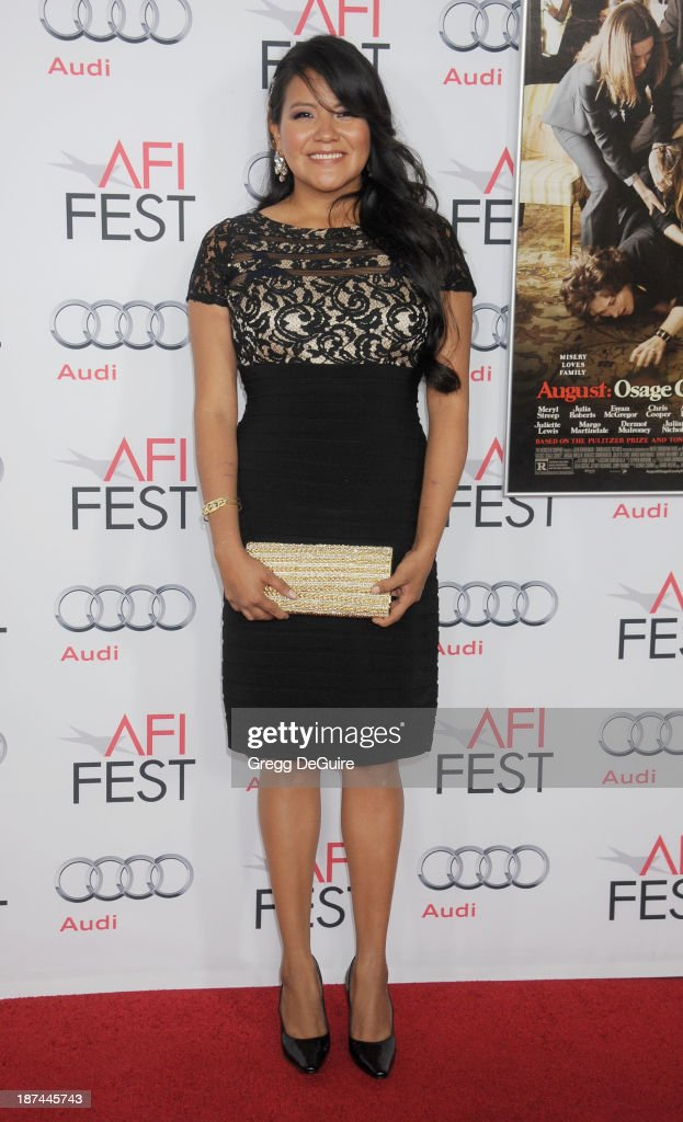 Actress <a gi-track='captionPersonalityLinkClicked' href=/galleries/search?phrase=Misty+Upham&family=editorial&specificpeople=4835047 ng-click='$event.stopPropagation()'>Misty Upham</a> arrives at the AFI FEST 2013 Gala Screening of 'August: Osage County' at TCL Chinese Theatre on November 8, 2013 in Hollywood, California.