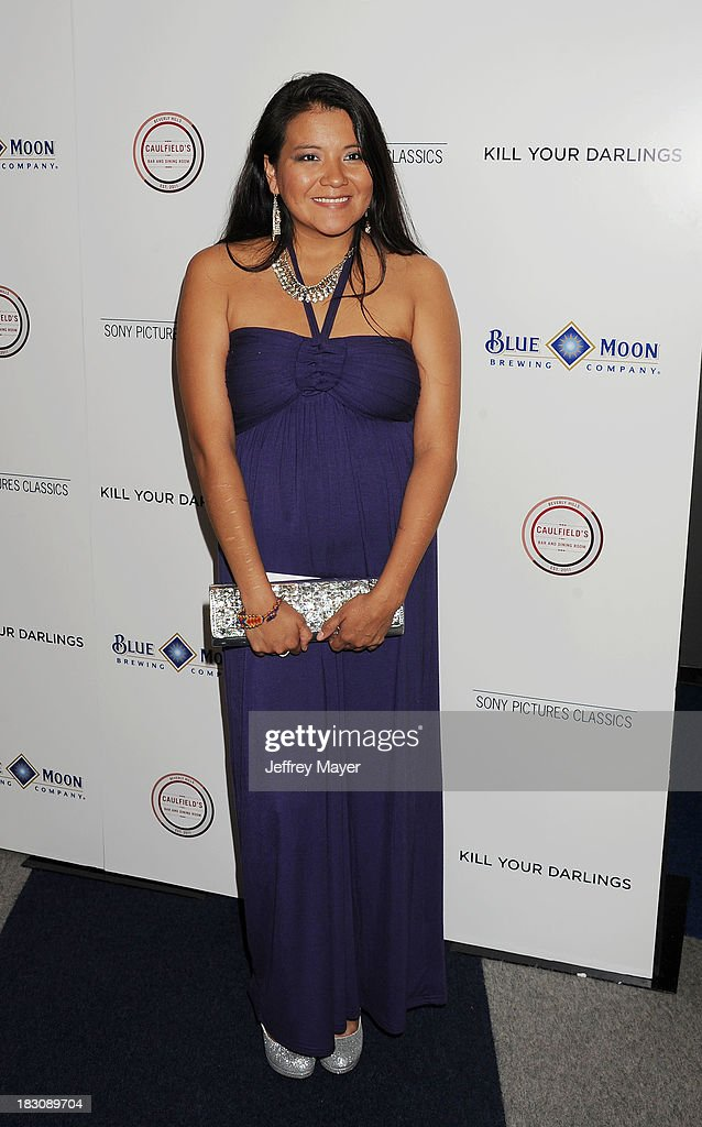 Actress <a gi-track='captionPersonalityLinkClicked' href=/galleries/search?phrase=Misty+Upham&family=editorial&specificpeople=4835047 ng-click='$event.stopPropagation()'>Misty Upham</a> arrives at the Los Angeles premiere of 'Kill Your Darlings' at the Writers Guild Theater on October 3, 2013 in Beverly Hills, California.