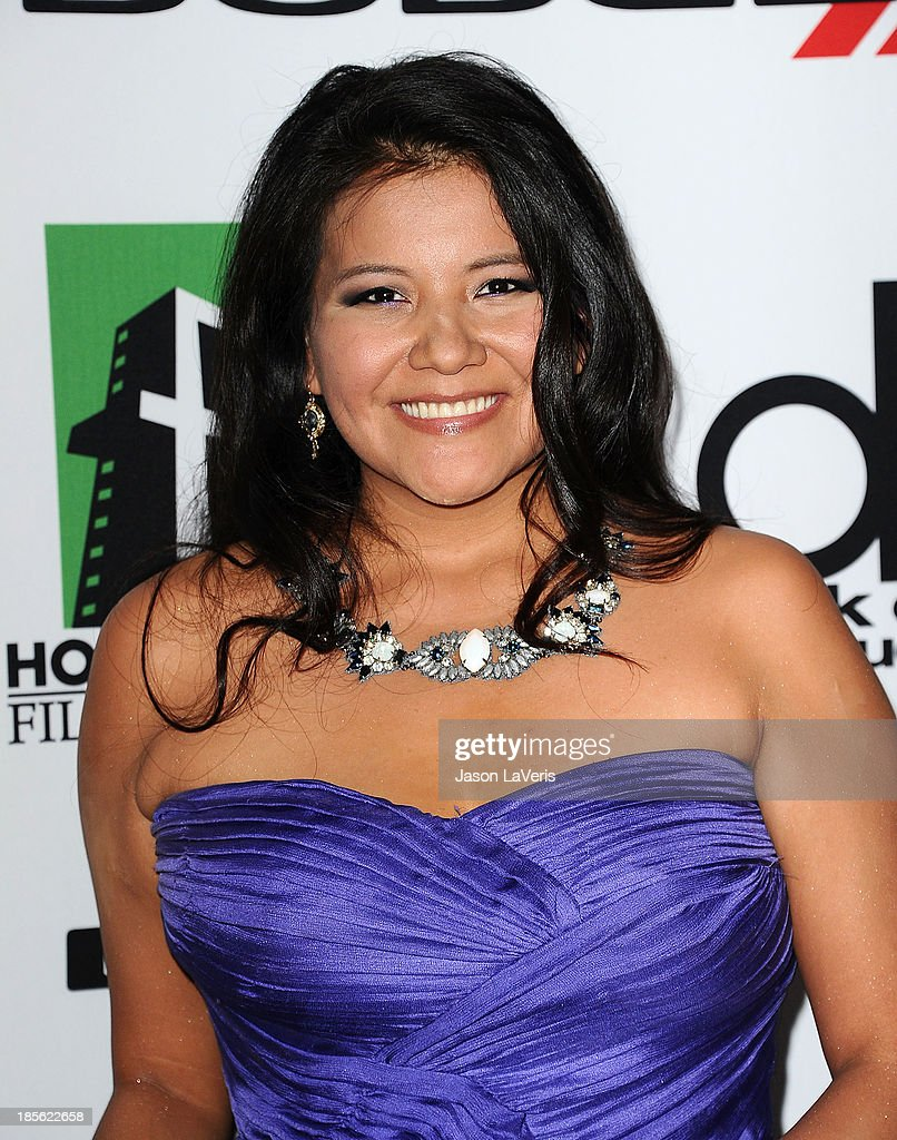Actress <a gi-track='captionPersonalityLinkClicked' href=/galleries/search?phrase=Misty+Upham&family=editorial&specificpeople=4835047 ng-click='$event.stopPropagation()'>Misty Upham</a> attends the 17th annual Hollywood Film Awards at The Beverly Hilton Hotel on October 21, 2013 in Beverly Hills, California.