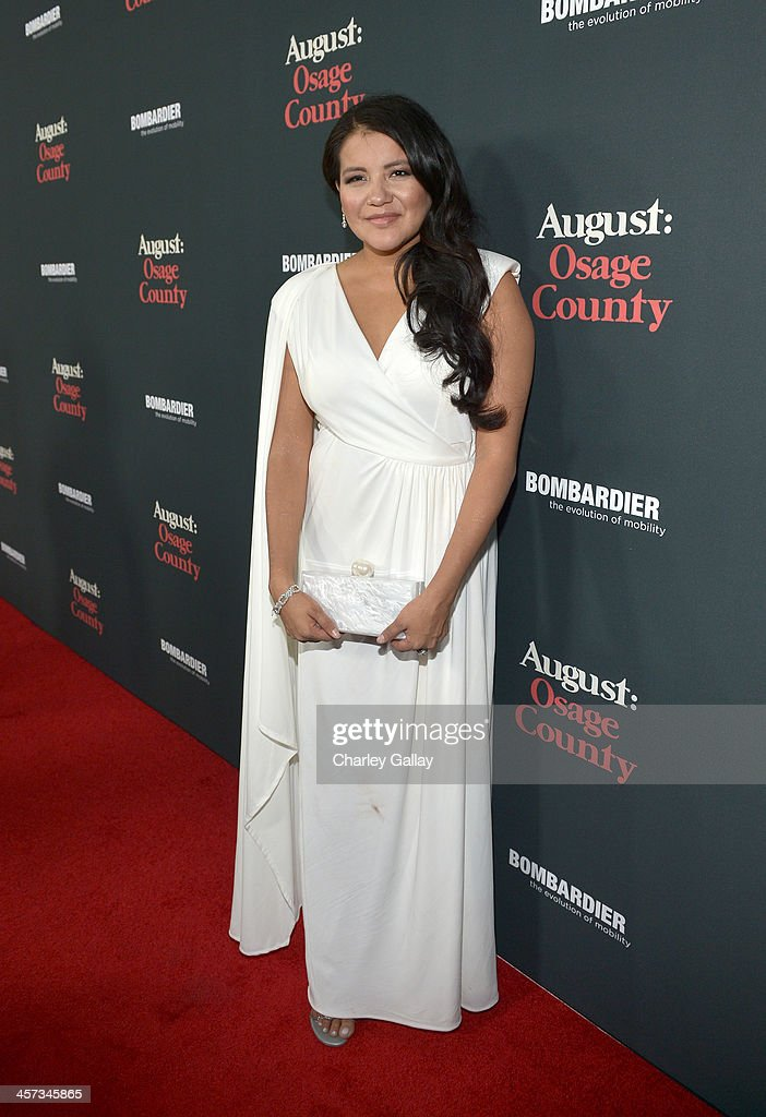 Actress <a gi-track='captionPersonalityLinkClicked' href=/galleries/search?phrase=Misty+Upham&family=editorial&specificpeople=4835047 ng-click='$event.stopPropagation()'>Misty Upham</a> attends the LA premiere Of 'August: Osage County' presented by The Weinstein Company in partnership with Bombardier at Regal Cinemas L.A. Live on December 16, 2013 in Los Angeles, California.
