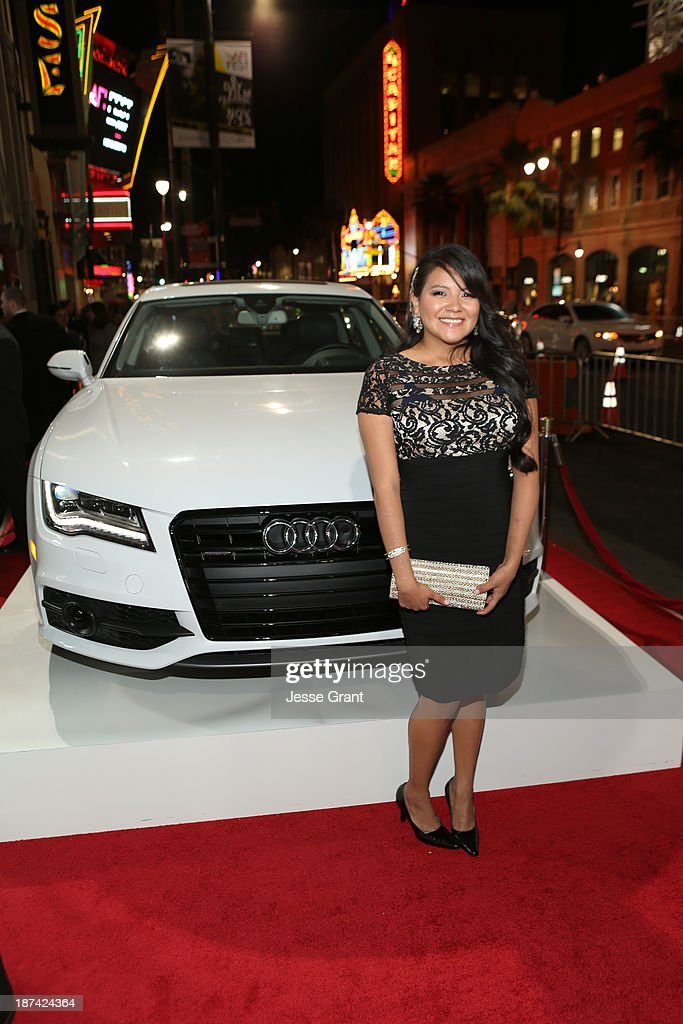 Actress <a gi-track='captionPersonalityLinkClicked' href=/galleries/search?phrase=Misty+Upham&family=editorial&specificpeople=4835047 ng-click='$event.stopPropagation()'>Misty Upham</a> attends the premiere of The Weinstein Company's 'August: Osage County' during AFI FEST 2013 presented by Audi at TCL Chinese Theatre on November 8, 2013 in Hollywood, California.
