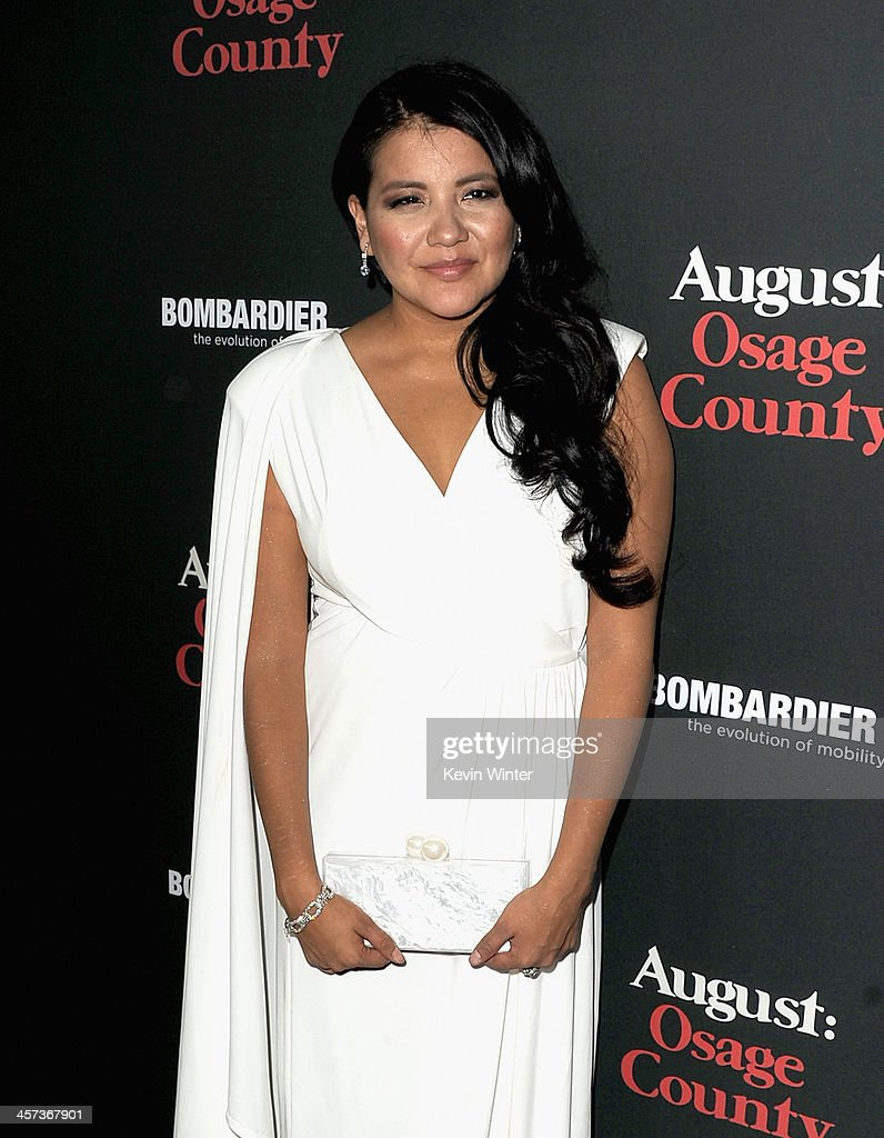 Actress Misty Upham attends the Premiere of The Weinstein Company's 'August: Osage County' at Regal Cinemas L.A. Live on December 16, 2013 in Los Angeles, California.
