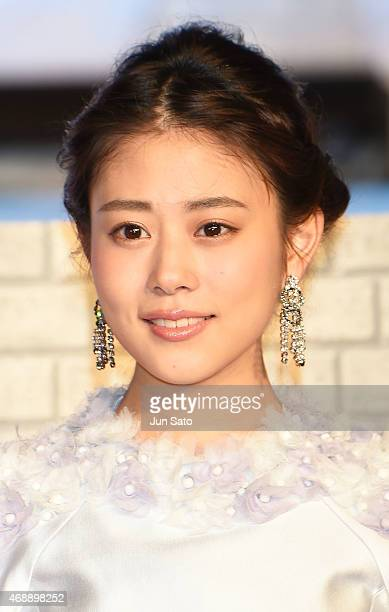 Actress Mitsuki Takahata attends the premiere of 'Cinderella' on April 8 2015 at Roppongi Hills in Tokyo Japan