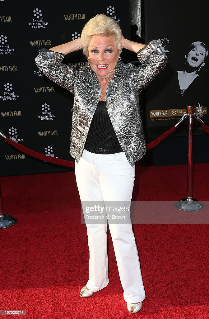 Actress <a gi-track='captionPersonalityLinkClicked' href=/galleries/search?phrase=Mitzi+Gaynor&family=editorial&specificpeople=613480 ng-click='$event.stopPropagation()'>Mitzi Gaynor</a> attends the 2013 TCM Classic Film Festival Opening Night Gala screening of 'Funny Girl' at the TCL Chinese Theatre on April 25, 2013 in Hollywood, California.