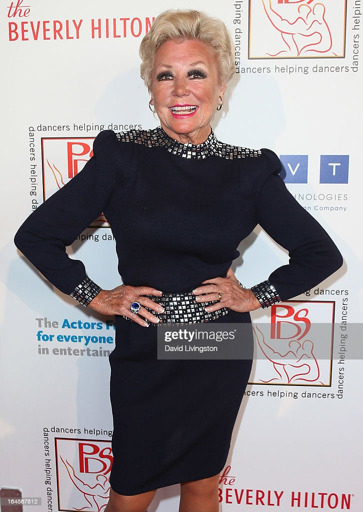 Actress <a gi-track='captionPersonalityLinkClicked' href=/galleries/search?phrase=Mitzi+Gaynor&family=editorial&specificpeople=613480 ng-click='$event.stopPropagation()'>Mitzi Gaynor</a> attends the Professional Dancers Society's Gypsy Awards Luncheon at The Beverly Hilton Hotel on March 24, 2013 in Beverly Hills, California.