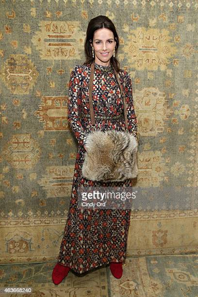 Actress/ model Adriana Abascal attends the Tory Burch fashion show during MercedesBenz Fashion Week Fall 2015 at 583 Park Avenue on February 17 2015...