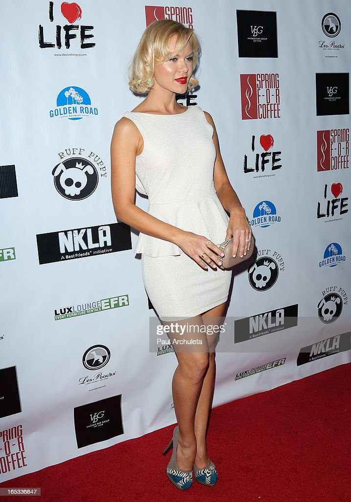 Actress / Model Anya Monzikova attends the No Kill LA charity event at Fred Segal on April 2, 2013 in West Hollywood, California.