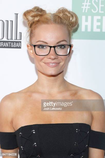 Actress / Model Caitlin O'Connor attends the #SeeHER PreEmmy Party Hosted By Celebrity Page TV and ANA at Soul Hollywood Restaurant Bar on September...