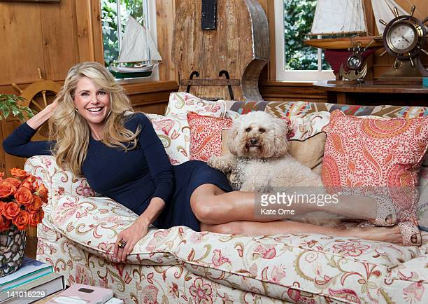 Actress model Christie Brinkley photographed at her home for the August 2011 Telegraph Magazine in Bridgehampton New York