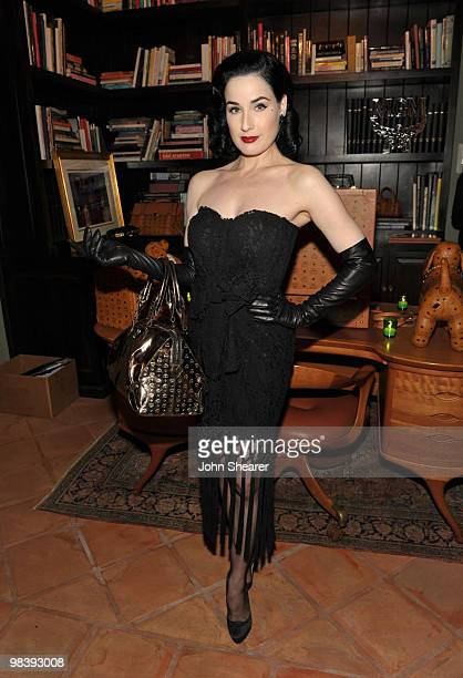 Actress/ Model Dita Von Teese attends 'MCM Gets Carried Away in LA' held at a private residence on April 9 2010 in Los Angeles California