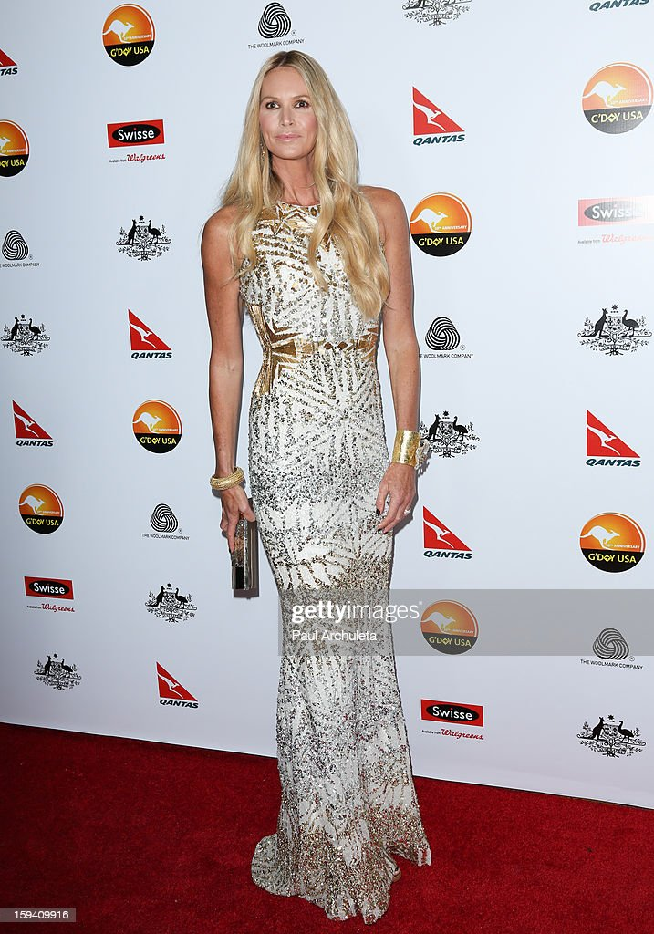 Actress / Model <a gi-track='captionPersonalityLinkClicked' href=/galleries/search?phrase=Elle+Macpherson&family=editorial&specificpeople=202490 ng-click='$event.stopPropagation()'>Elle Macpherson</a> attends the 2013 G'Day USA Los Angeles Black Tie Gala at JW Marriott Los Angeles at L.A. LIVE on January 12, 2013 in Los Angeles, California.
